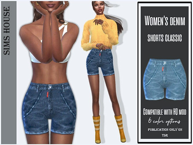 Denim Shorts Classic By Sims House