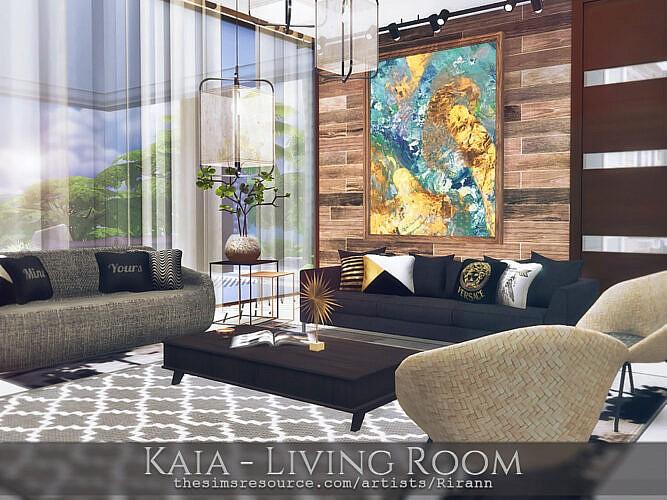 Kaia Living Room By Rirann At Tsr