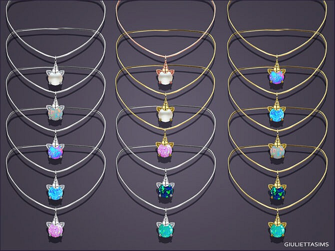 Sims 4 Magic Unicorn Necklace For Toddlers by feyona at TSR
