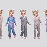 Fullbody Sleepwear Toddler Girl By Mclaynesims