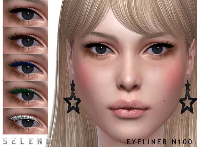 Sims 4 Eyeliner N100 by Seleng at TSR