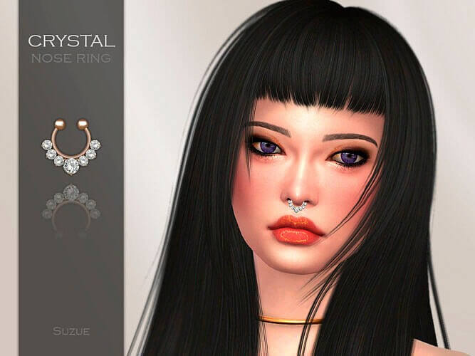 Crystal Nose Ring By Suzue