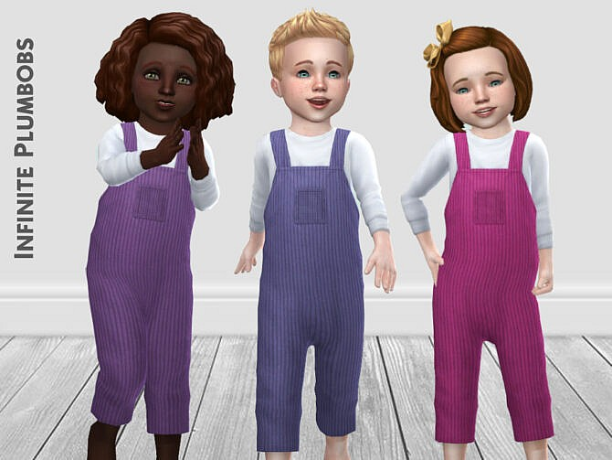 Sims 4 Toddler Corduroy Dungarees by InfinitePlumbobs at TSR