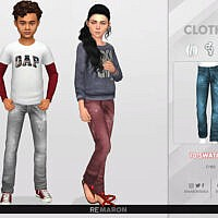 Denim Pants For Child 01 By Remaron