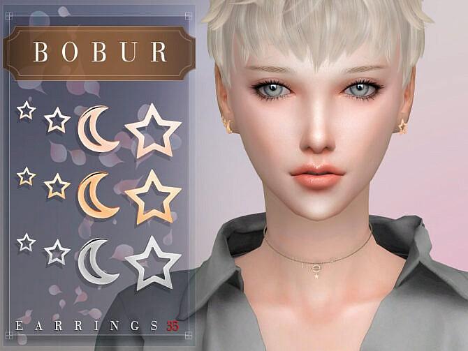 Sims 4 Earrings 35 by Bobur3 at TSR