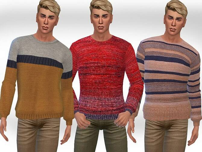 Sims 4 Round Neck Pullovers M by Saliwa at TSR