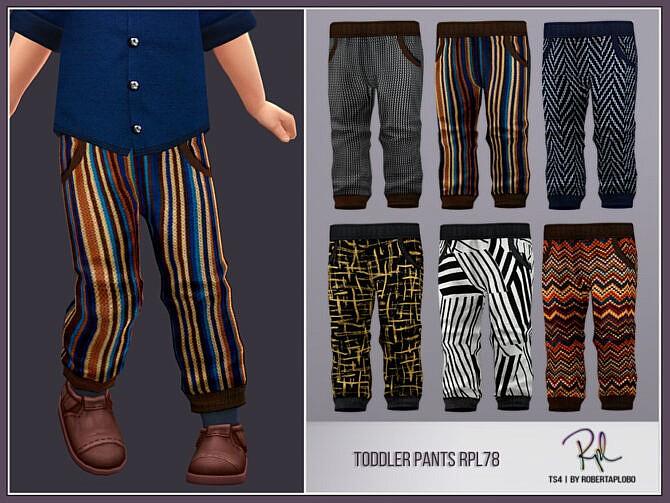 Sims 4 Toddler Pants RPL78 by RobertaPLobo at TSR