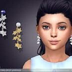 Shooting Stars Drop Earrings For Kids By Feyona