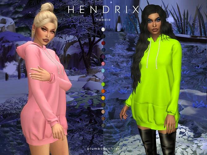 Sims 4 HENDRIX hoodie by Plumbobs n Fries at TSR