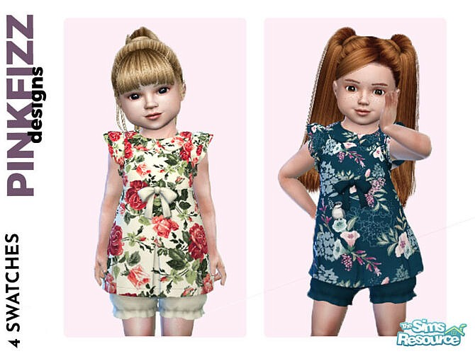 Sims 4 Toddler Spring Dress by Pinkfizzzzz at TSR