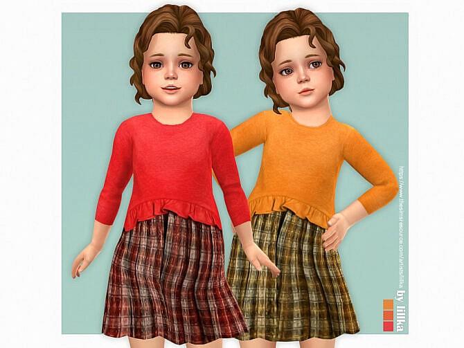 Sims 4 Ophelia Dress by lillka at TSR