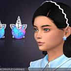 Magic Unicorn Stud Earrings For Kids By Feyona