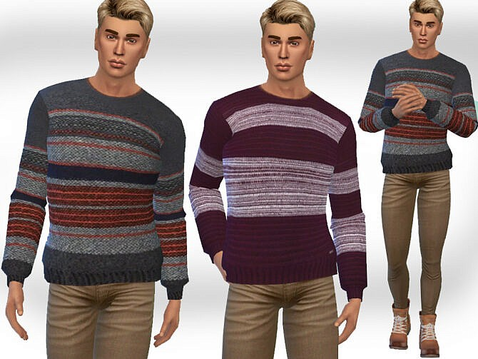 Sims 4 Casual Round Neck Pullovers M by Saliwa at TSR
