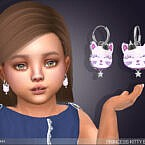 Princess Kitty Earrings For Toddlers By Feyona