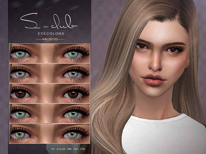 Sims 4 Eyecolors 202102 by S Club WM at TSR