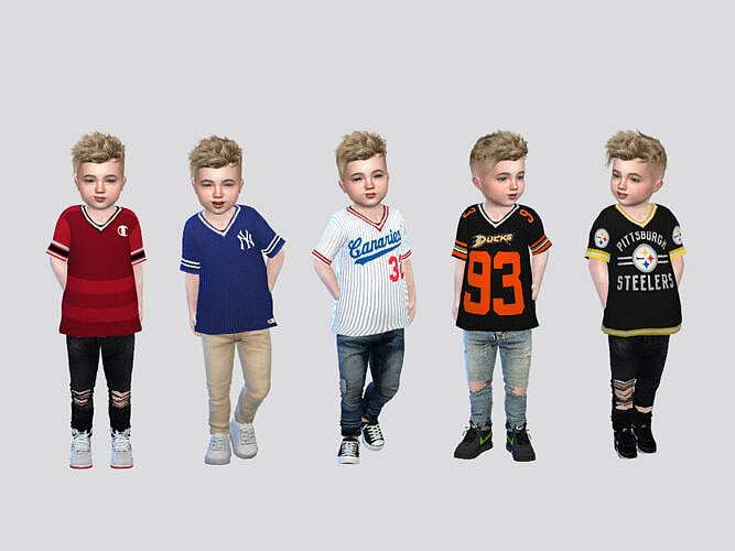 Sports Jersey Tee Toddler By Mclaynesims