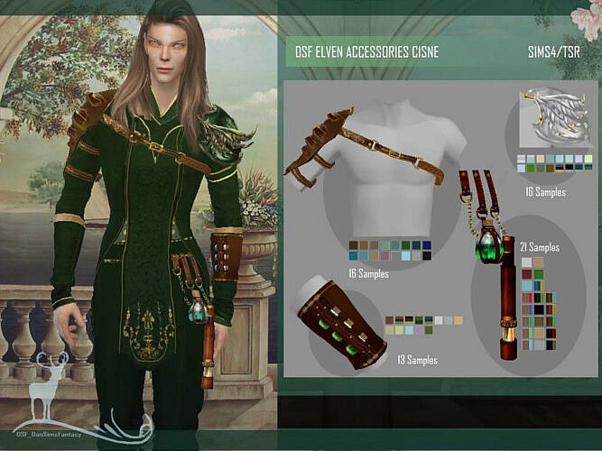 Dsf Elven Accessories Cisne By Dansimsfantasy