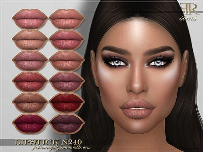 Frs Lipstick N240 By Fashionroyaltysims