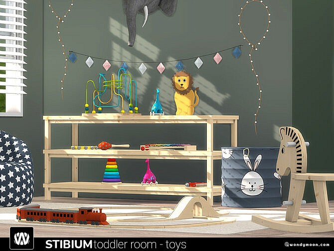 Sims 4 Stibium Toddler Room Toys by wondymoon at TSR