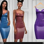 621 Latex Sims 4 Dress