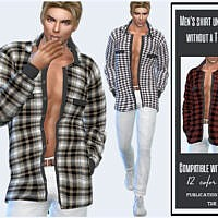Men's Shirt Unbuttoned Without A T-shirt By Sims House