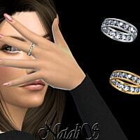 18 Gems Eternity Ring By Natalis