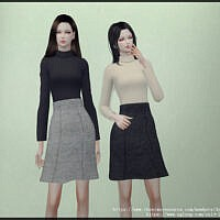 Turtleneck Blouse And Skirt By Arltos