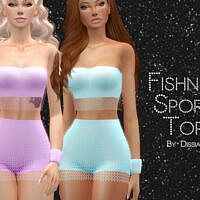 Fishnet Sport Top By Dissia