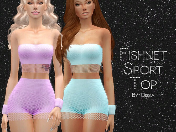 Sims 4 Fishnet Sport Top by Dissia at TSR