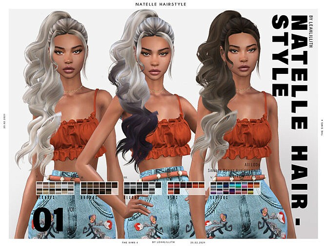 Sims 4 Natelle Hairstyle by Leah Lillith at TSR