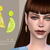 Lemon Tuesday Earrings By Sugar Owl