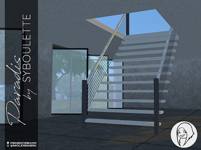 Sims 4 Paradis functional stairs set by Syboubou at TSR