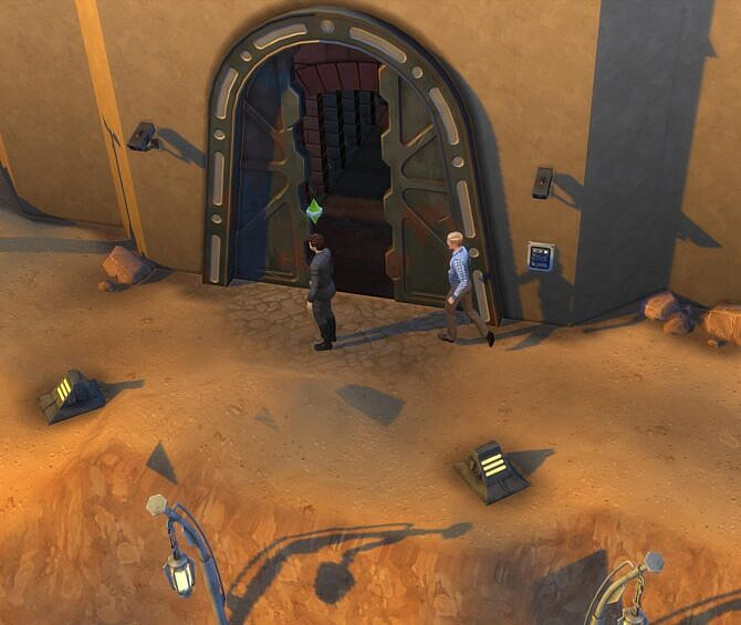Sims 4 Cantina Door Fix (Star Wars) by endermbind at Mod The Sims 4
