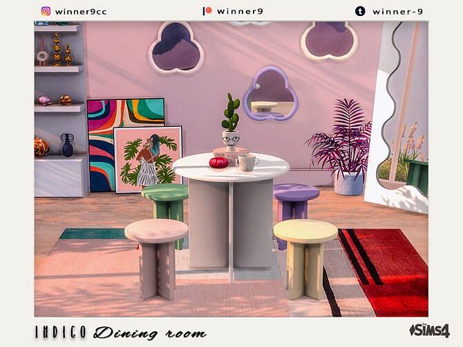 Sims 4 Indigo Dining room by Winner9 at TSR