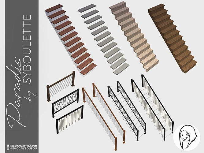 Paradis Functional Stairs Set By Syboubou