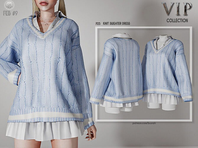 Sims 4 Knit Sweater Dress P25 by busra tr at TSR