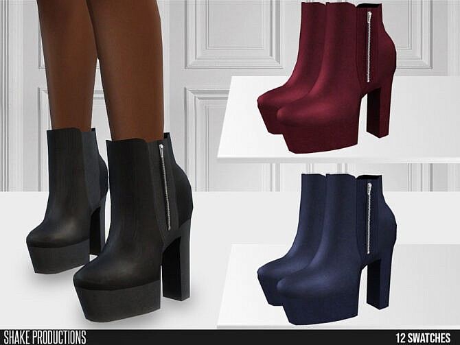 Sims 4 636 High Heel Boots by ShakeProductions at TSR