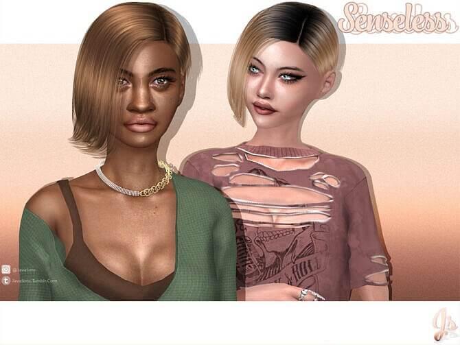 Sims 4 Senseless Hairstyle by JavaSims at TSR