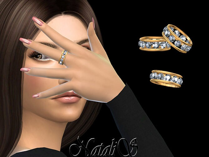 Sims 4 12 gems eternity ring by NataliS at TSR