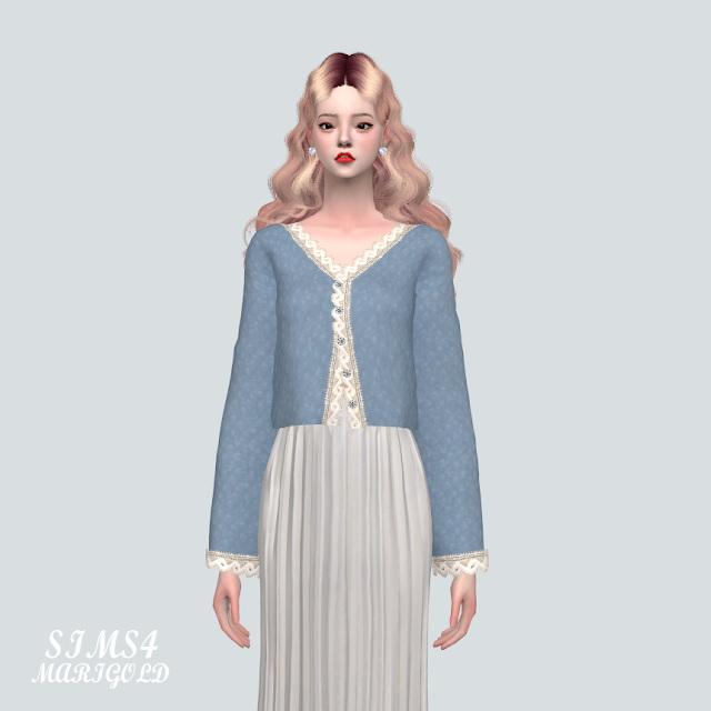 Sims 4 Lace Ribbon Cardigan at Marigold