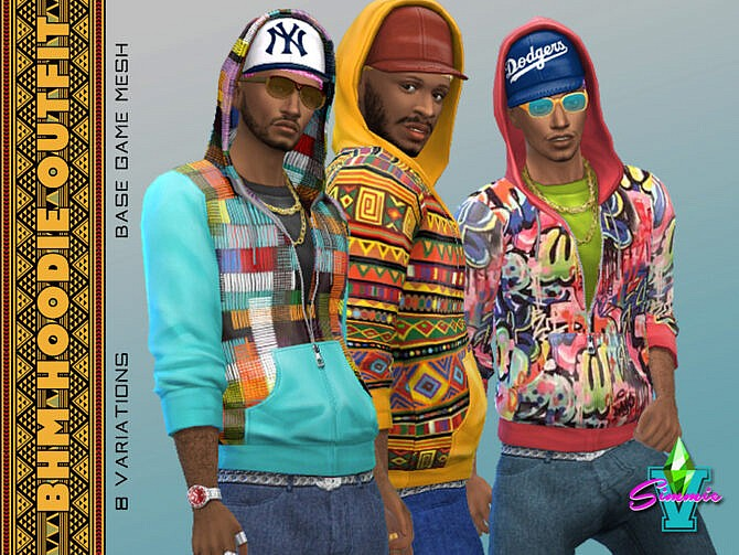 Sims 4 BHM Hoodie Outfit by SimmieV at TSR