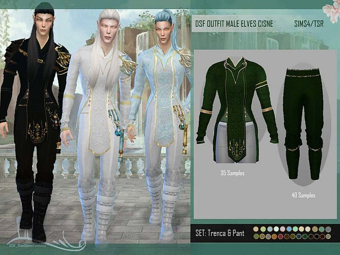 Dsf Outfit Male Elves Cisne By Dansimsfantasy