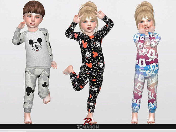 Sims 4 PJ for Toddler 01 Pants by remaron at TSR