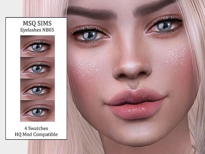 Sims 4 Eyelashes NB05 at MSQ Sims