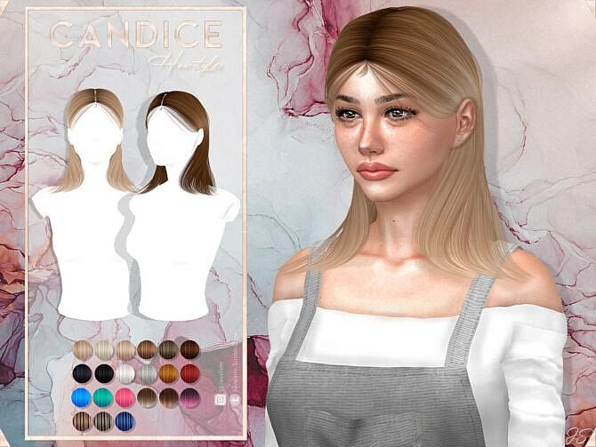 Sims 4 Candice Hair by JavaSims at TSR