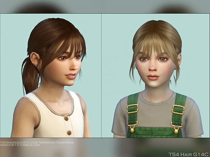 Sims 4 Child Hair G14C by DaisySims at TSR