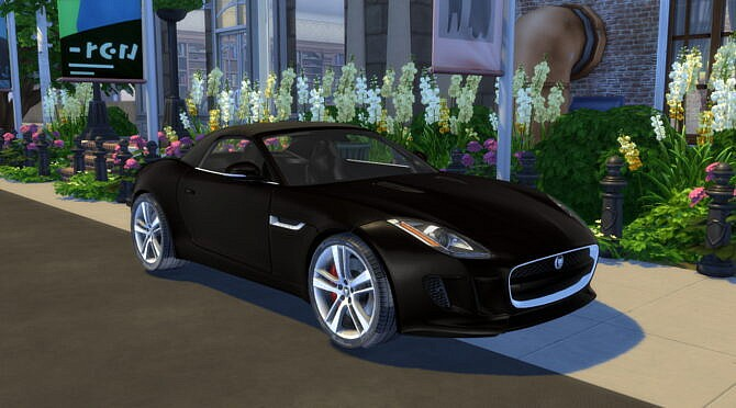 Sims 4 2014 Jaguar F Type at Modern Crafter CC