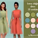 Loose Chiffon Dress By Mysteriousoo