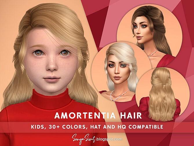 Sims 4 Amortentia Hair (Kids) by SonyaSimsCC at TSR