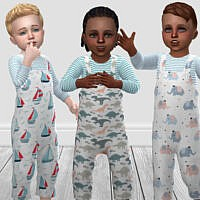Toddler Cute Dungarees By Infiniteplumbobs